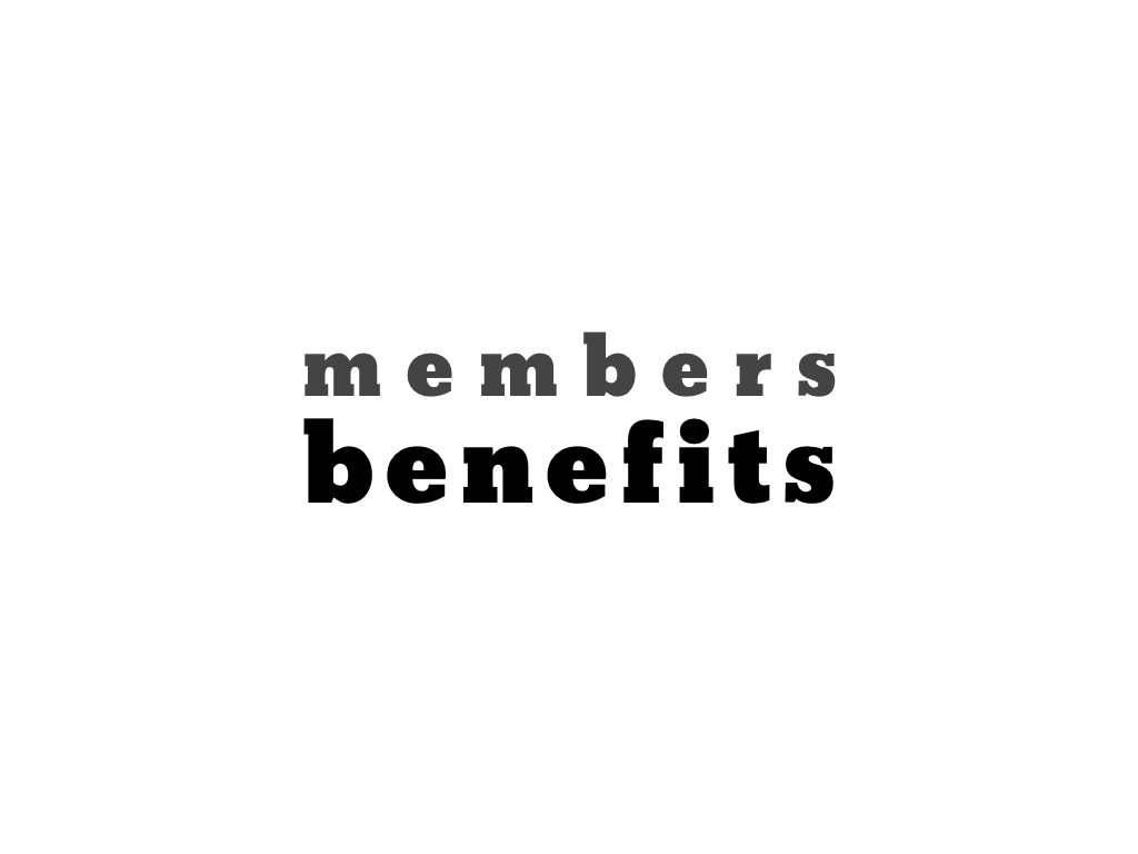 text: members benefits