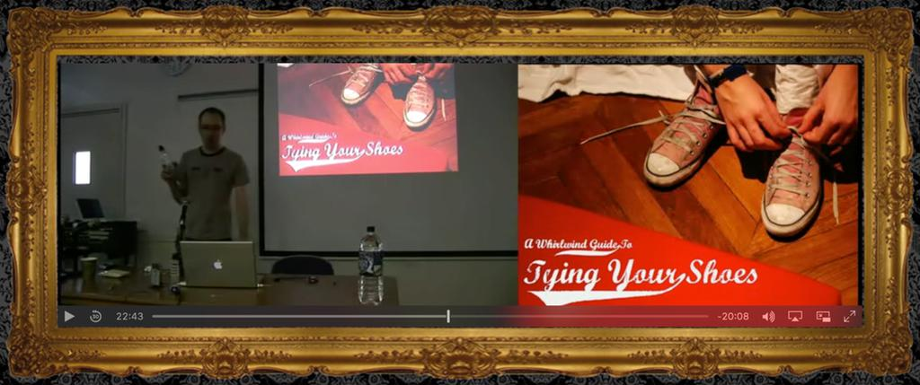 a screenshot of the video for the talk from the ruby manor website