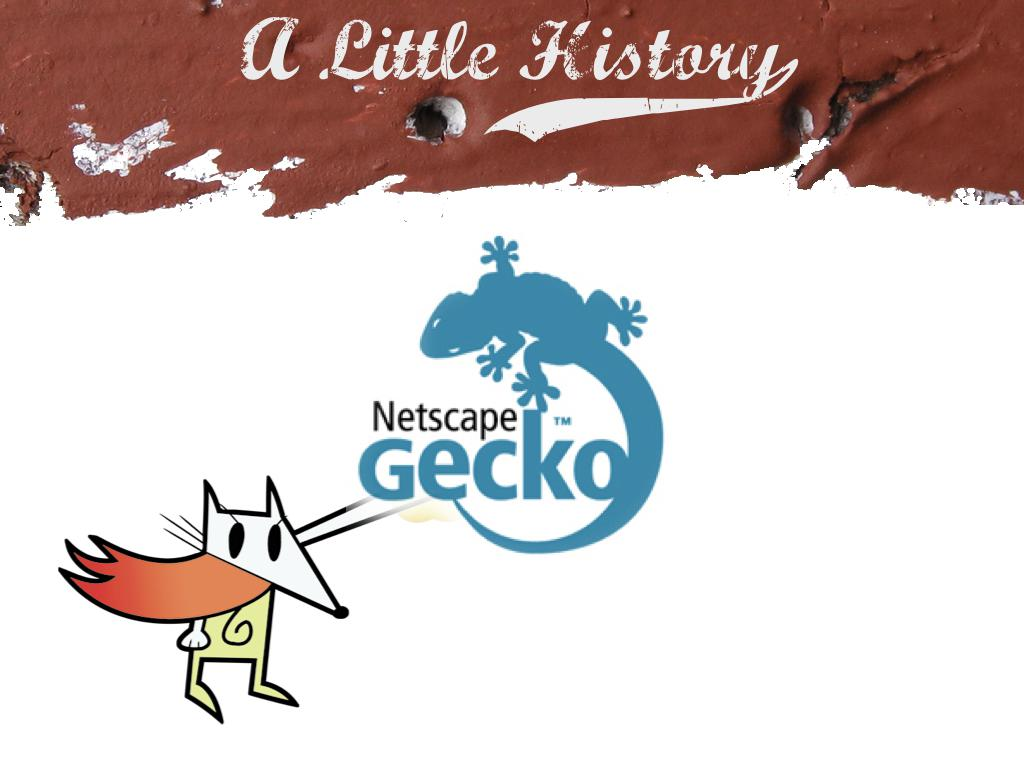 The hackety-hack logo with the gecko logo superimposed over the hand. text: A little history