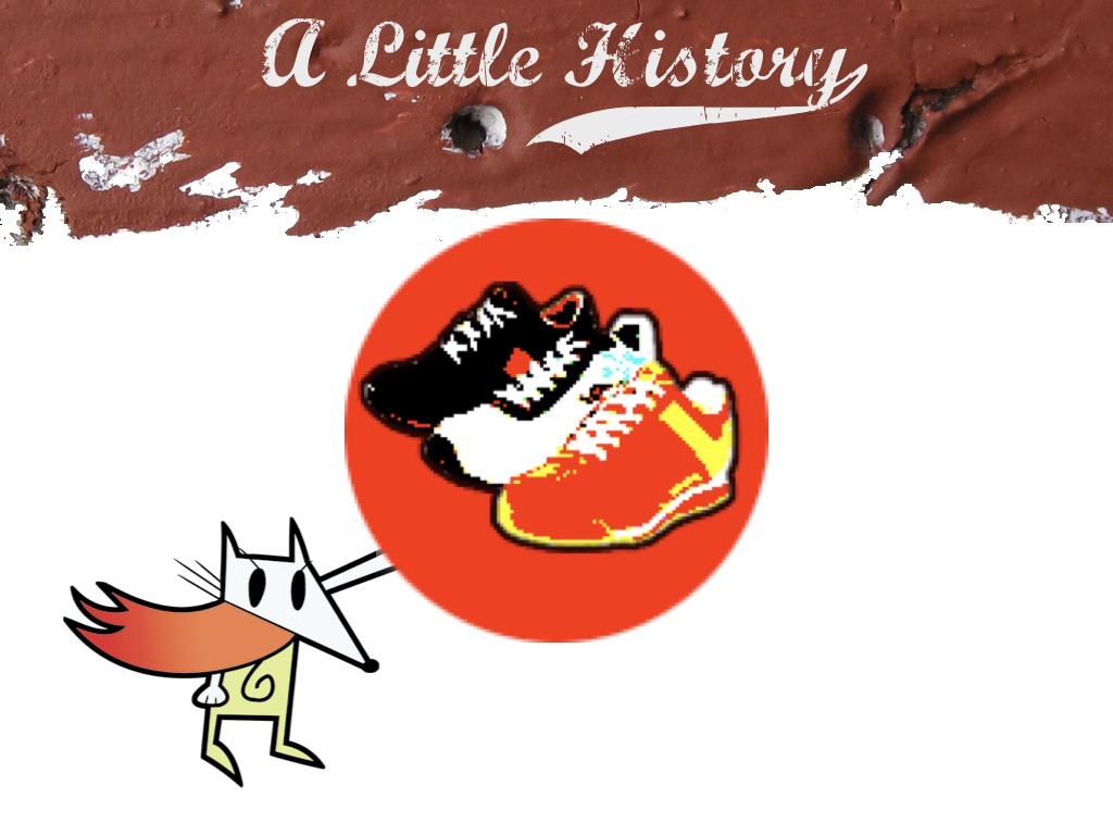 The hackety-hack logo with the Shoes logo superimposed over the hand. text: A little history